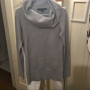 French Connection Sweater -S gray poly blend